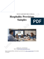 Hospitality Provisions Samples
