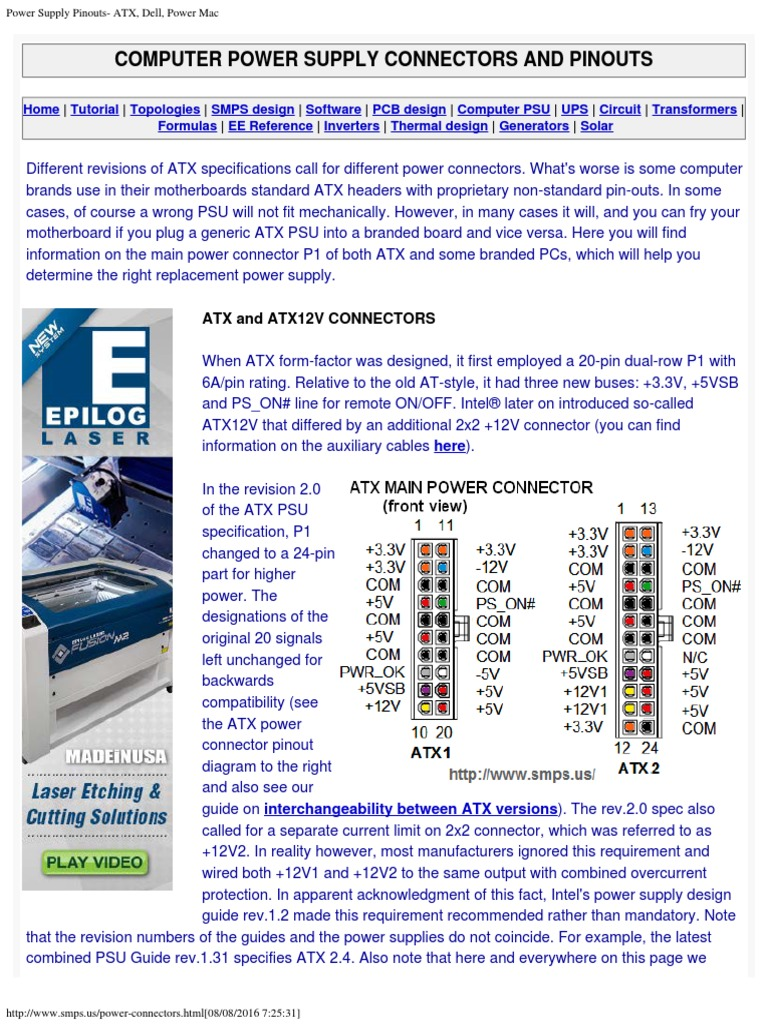 Amazing Atx Power Supply Connector Pinout Photos - The Best ...