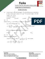8.Condensed Matter Physics NET-JRF VKS