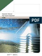 49704821 ALFA LAVAL Manual P605 High Speed Separator