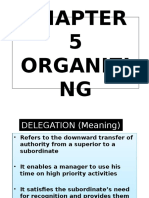 Chapter 5 Organizing Notes