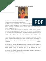 Biografía Corta de Vicente Guerrero