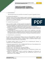 Especif Tecnicas arquitectura.doc