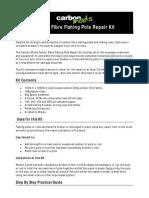 Carbon Fibre Fishing Pole Repair Kit Instructions