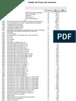 Tabela de Insumos 024
