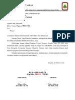 Surat Peminjaman Peralatan