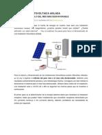 Metodo de Cálculo Fotovoltaico Aislado