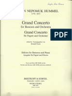 HUMMEL, Grand Concerto for Bassoon and Orchestra_ Piano