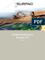 Solids Modelling in Surpac 6.0