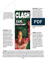 clash magazine front cover analysis