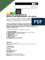 Ciclo de Conciertos de Música Contemporánea