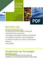 Apresentação - Psicologia Ambiental