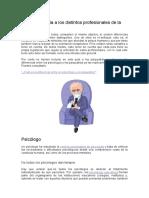 Psicoanalisis y Psicologia Algunas Diferencias