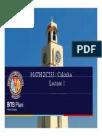 Math Zc233 l1