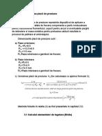 Calculul Partii Conduse a Ambreiajului; Dimensionarea Placii de Presiune