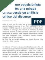 El Trastorno Oposicionista Desafiante_ Una Mirada Crítica Desde Un Análisis Crítico Del Discurso _ Revista Psico-Tópicos
