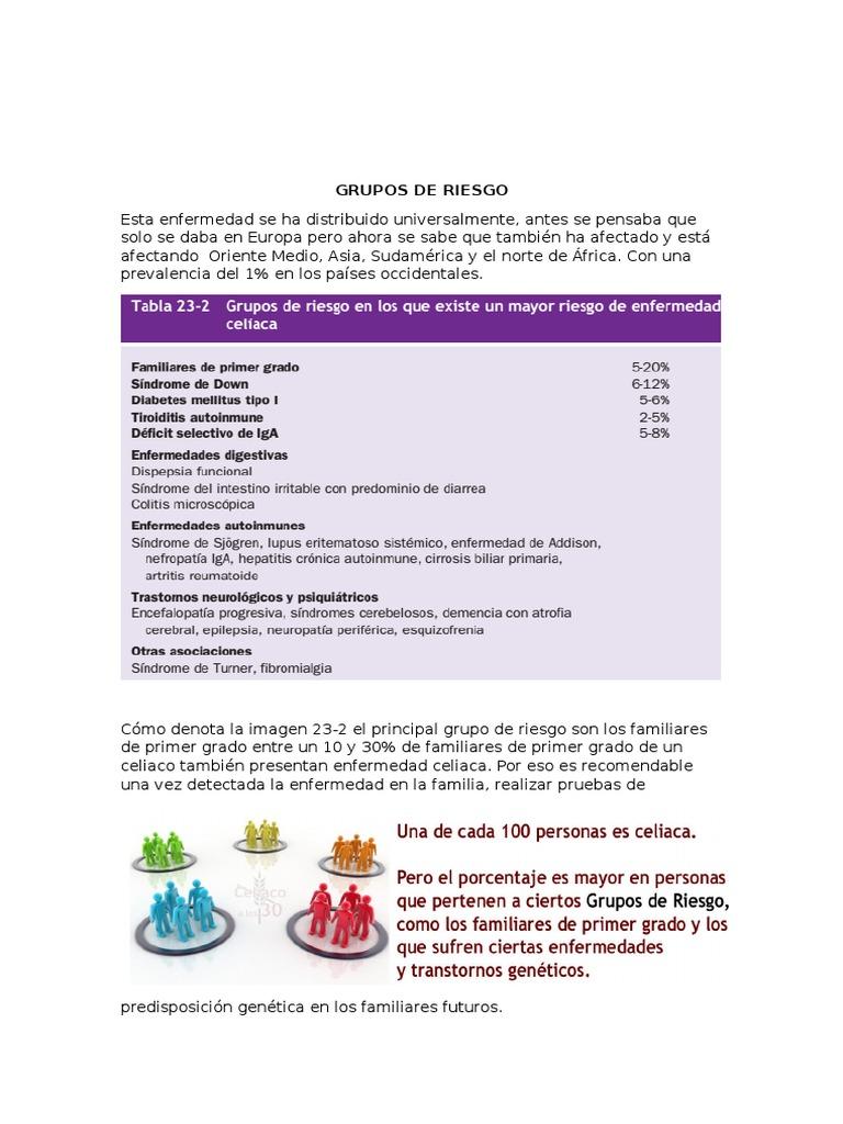 diabetes mellitus tipo 1 y enfermedad celíaca