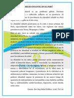 Obesidad Infantil en El Perú