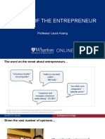 Profile of the Entrepreneur