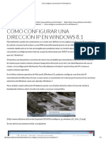 Cómo Configurar Una Dirección IP en Windows 8