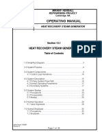 Heat Recovery Steam Generator Operation Manual