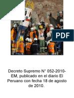 Decreto Supremo N° 052-2010 peru