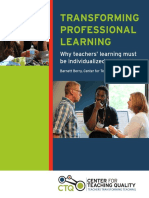 Transforming professional learning