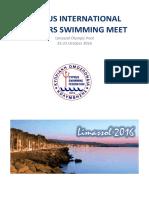 Cyprus International Masters Swimming Meet 2016