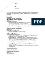 updated and revised hr resume