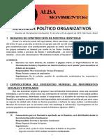 Acuerdos Políticos - Coordinacion Alba Movimientos 2015