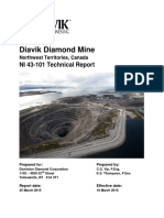 2015 Diavik Diamond Mine Technical Report