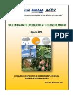 Boletín Agrometeorológico Mango_agosto2016