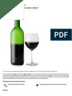 Qué Tipos de Vino Tinto Saben Dulce