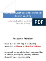 Research Methods Lecture 1