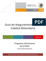 Guía de Aseguramiento de La Calidad Alimentaria 2013