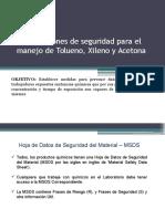 Condiciones de Seguridad Para El Manejo de Xileno