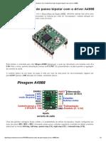 Arduino e Cia_ Controle de Motor de Passo Bipolar Com o Driver A4988