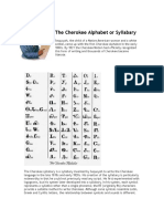 The Cherokee Alphabet or Syllabary