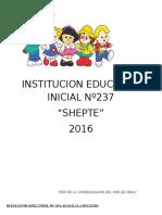 Reglamento Interno de La Institucion Educativa Inicial Nº011