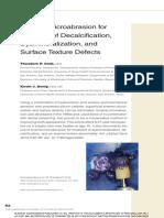Microabrasión y Textura