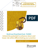 Perritt Low Priced Stock Fund -- PLOWX Advisor Guide
