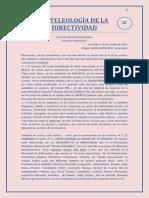 LA TEOLOGIA DE LA DIRECTIVIDAD