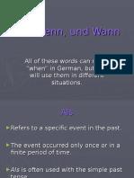 German Using a Ls Wenn Und Wann