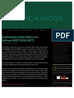 Explorando Falha SQLi Com Sqlmap [Método GET]