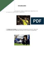Vocabulario 12 Futbol