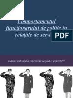 Comportamentul Polițistului În Relatiile de serviciu