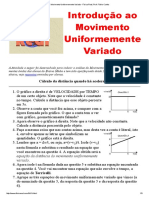 Movimento Uniformemente Variado - Física Real, Prof.pdf