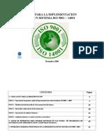 Web Guía implementación del sistema ISO 9001+14001Rev1
