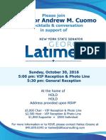 Latimer Oct 30 event
