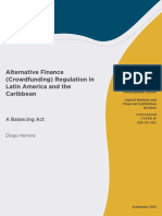 Alternative Finance (Crowdfunding) Regulation in Latin America and the Caribbean a Balancing Act